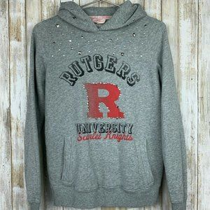 PINK Victoria Secret RUTGERS Gray Red Hooded M